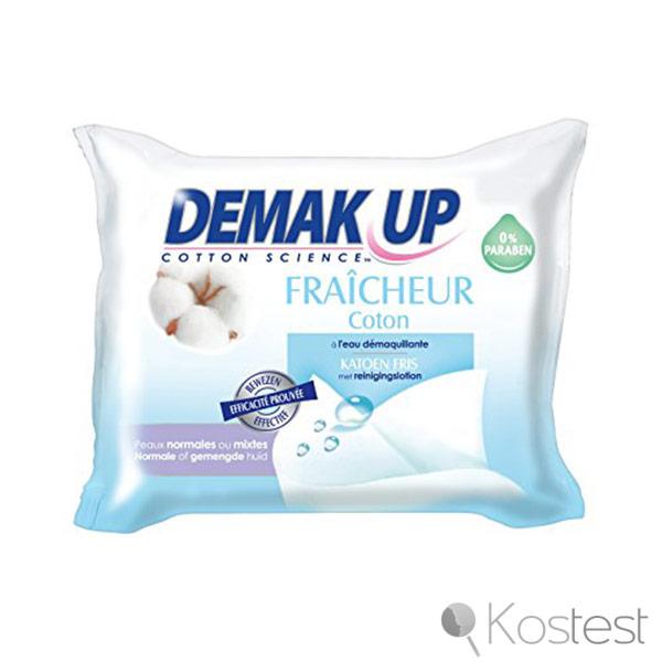 Lingettes démaquillantes Fraicheur Coton Demak up