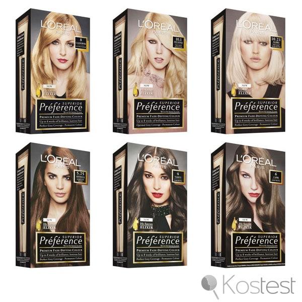 Colorations Préférence de L'Oréal
