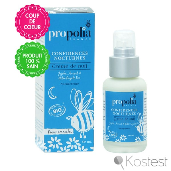 Crème nuit confidences nocturnes Propolia