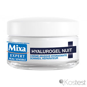 Crème-masque hydratante hyalurogel nuit Mixa