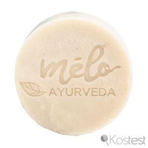 Texture shampooing solide cheveux bouclés Mélo Ayurvéda