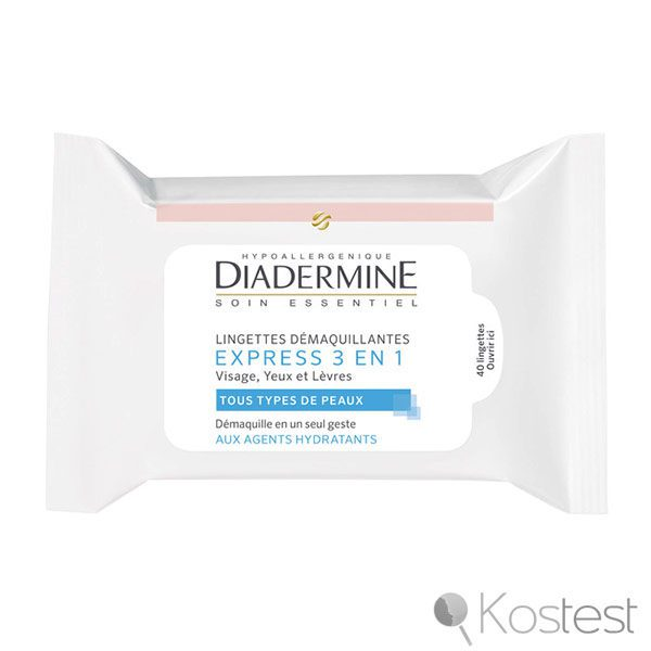 Lingettes démaquillantes Express 3 en 1 Diadermine